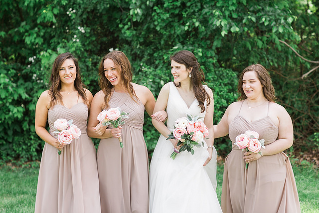 real, wedding, bridal, bridesmaids, dresses, affordable, taupe, neutral