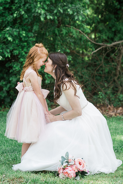 bride, flower girl, wedding, inspiration