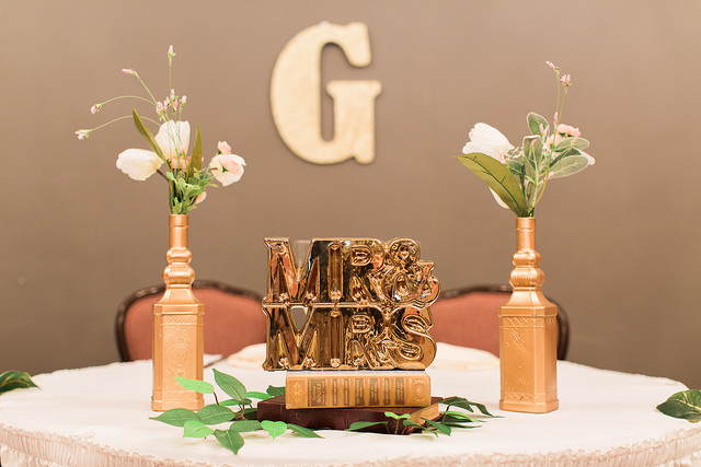 Friday Wedding Inspo | Metallic Accents