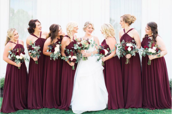 Color Inspo | Cabernet Bridesmaid Dresses