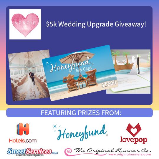 Enter The $5,000 Wedding Upgrade Giveaway!