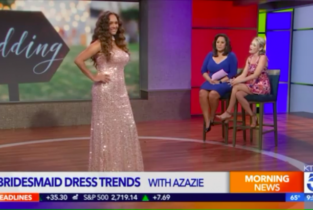 Check Out Azazie's Bridesmaid Dresses on KTLA