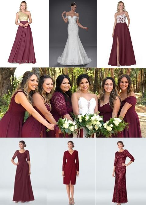 Azazie Roux, Azazie Noa, Azazie Lainey, Azazie Devon, Azazie Tatum, Azazie Riona, Cabernet, bridesmaid dress, dresses, wedding, bridal party, wedding style, fall style, fall fashion