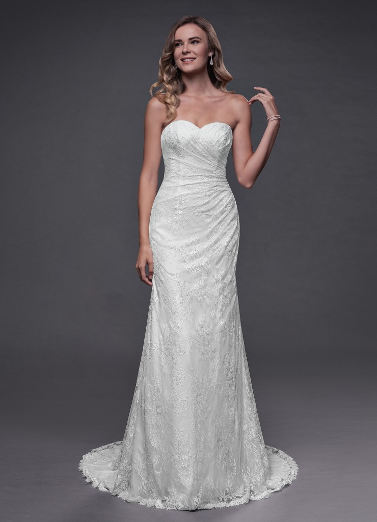 Azazie Linda Bridal Gown Diamond White