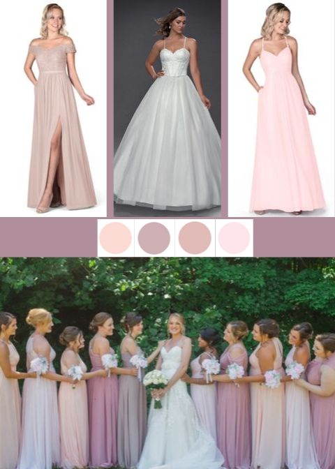 Azazie Lea, Azazie Maven, Dusty Rose, Pearl Pink, Blushing Pink, Taupe, Azazie Sutton, bridesmaid dress, dresses, wedding, bridal party, wedding style