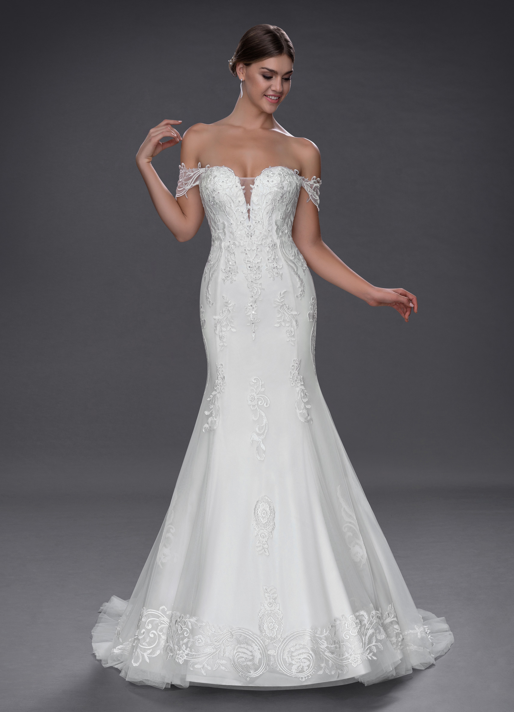 Azazie Roux wedding dress bridal gown
