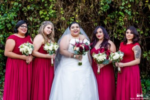 True Photography, Burgundy Bridesmaid Dresses, Azazie