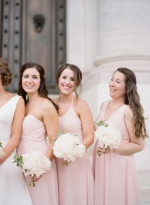 Audra Wrisley Photography, blushing pink, Bridesmaid dresses, Azazie