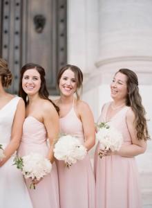 Audra Wrisley Photography, blushing pink, Bridesmaid dresses, Azazie