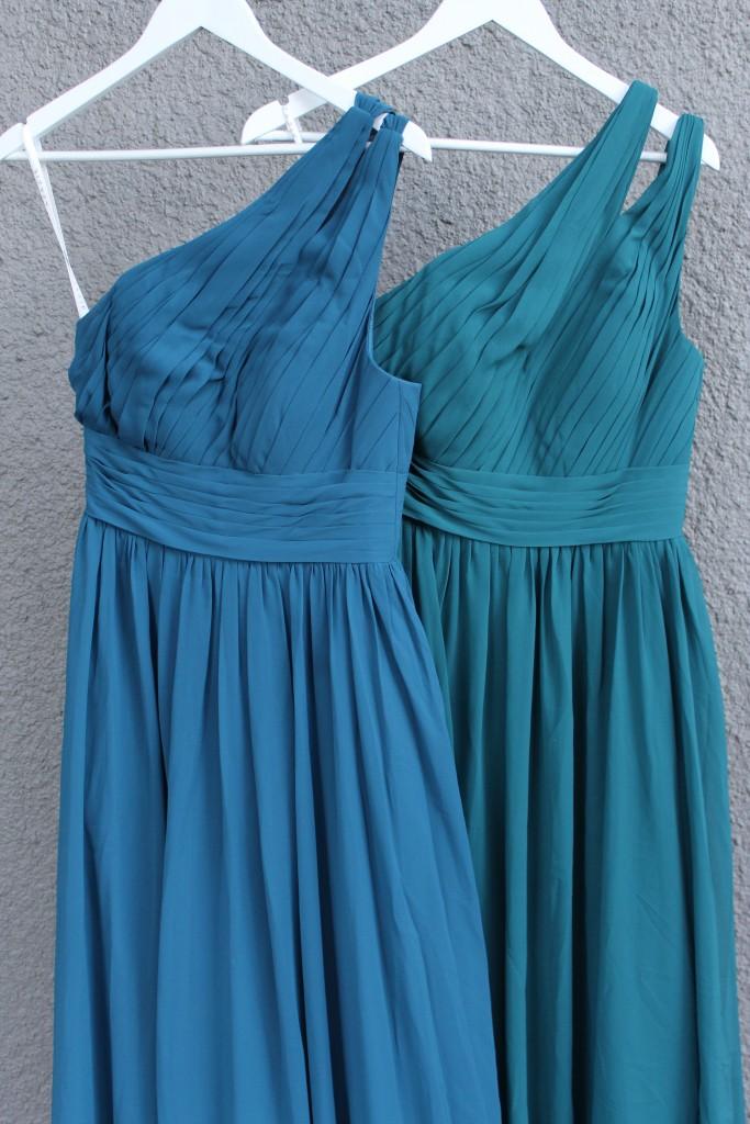 Ink Blue, Peacock, Bridesmaid dresses, Azazie