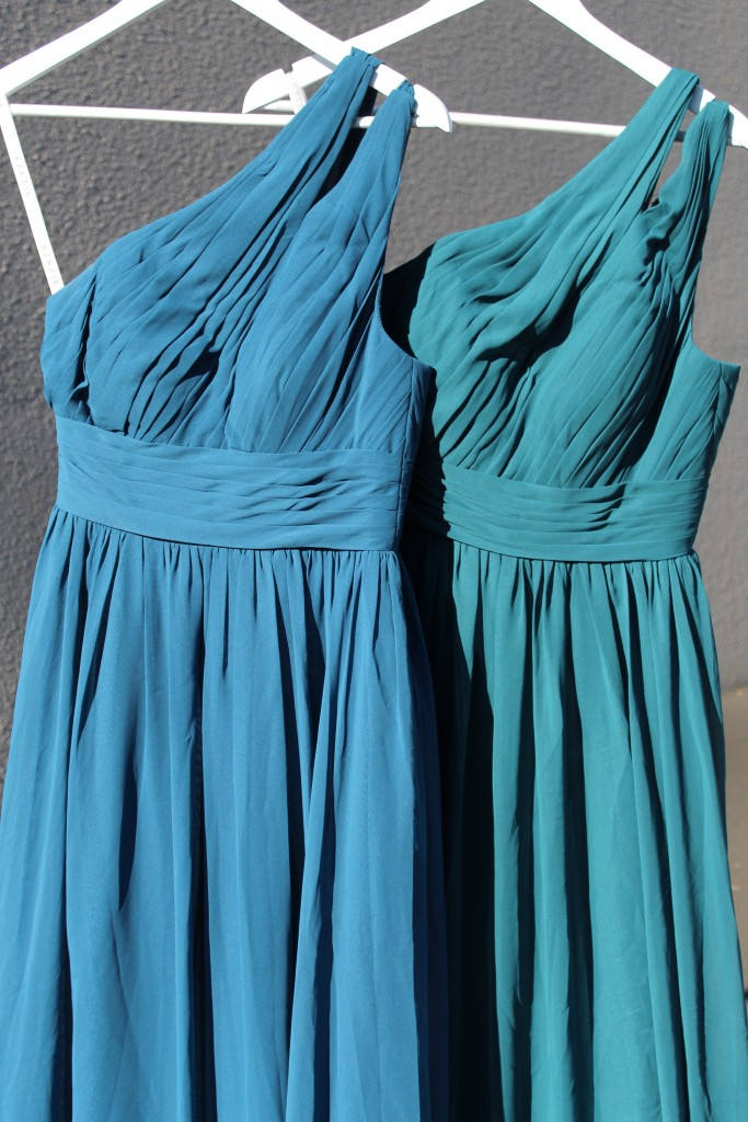 Ink Blue, Peacock, Bridesmaid dresses, Azazie