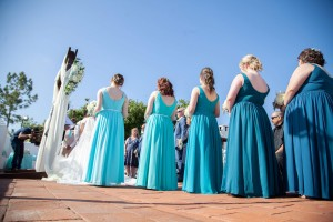 nikkinakataphotography, caribbean, spa, jade, peacock, ink blue, Bridesmaid dresses, Azazie