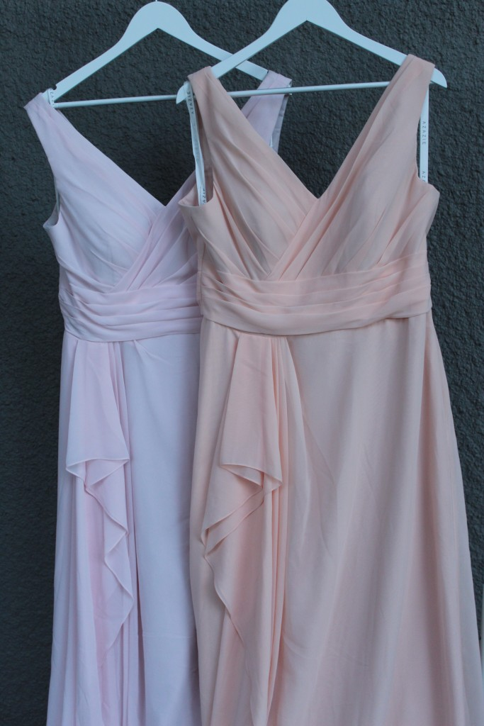 Pearl Pink, Blushing Pink, Bridesmaid dresses, Azazie