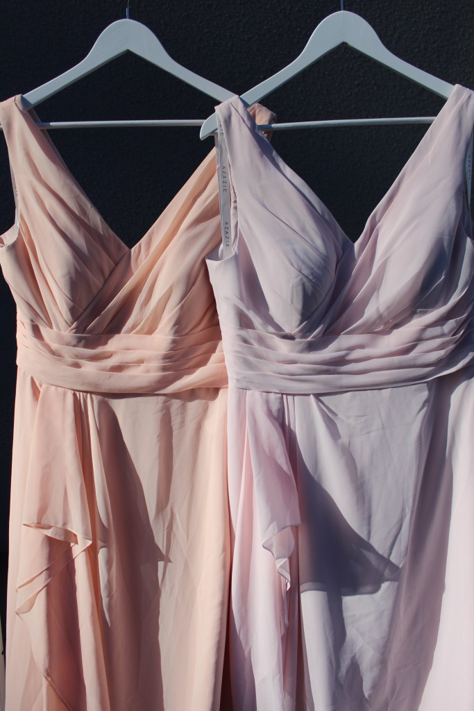 Pearl Pink, Blushing Pink, Bridesmaid dresses, Azazie