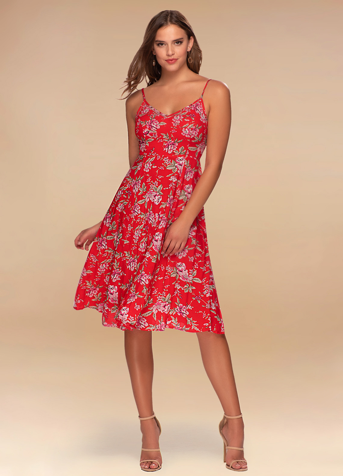 SP Red Floral Print #1.front