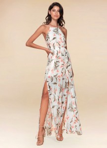 floral dress, Azazie, long dress, maxi dress, beach dress, bachelorette party dress, semi-formal dress