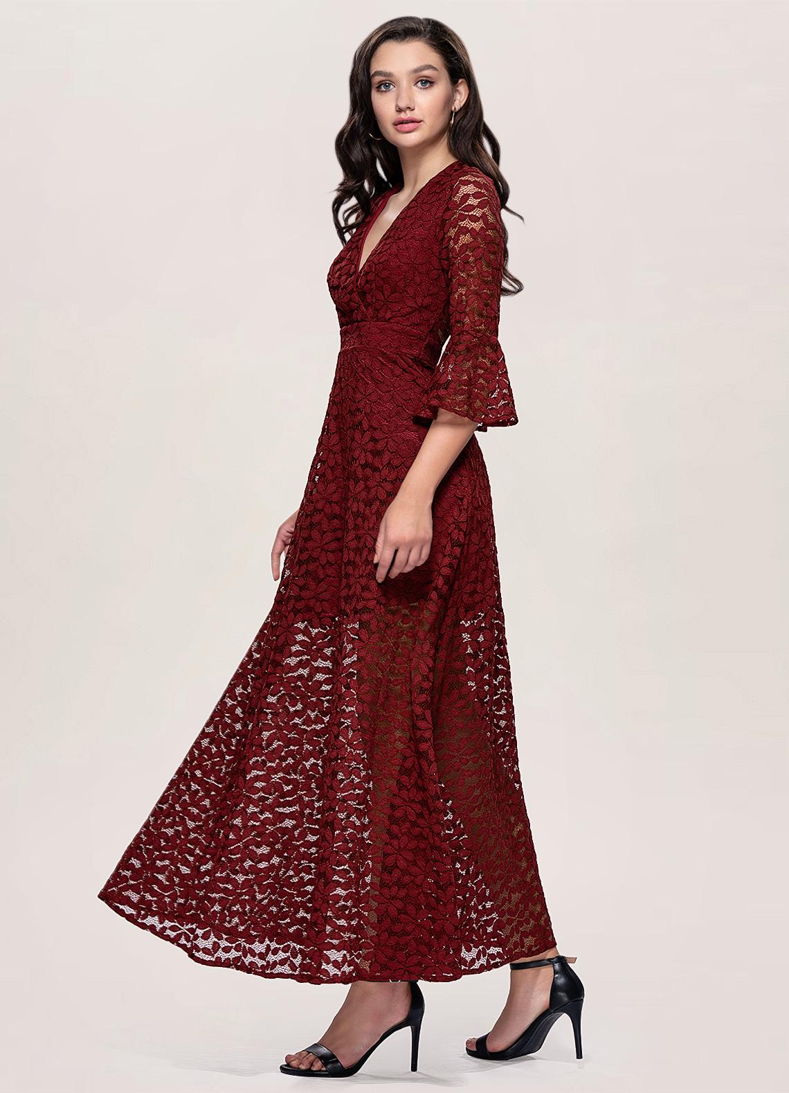 Dusk Burgundy Maxi Dress
