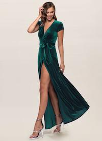 Dreaming Of You Dark Green Velvet Maxi Dress (feature)