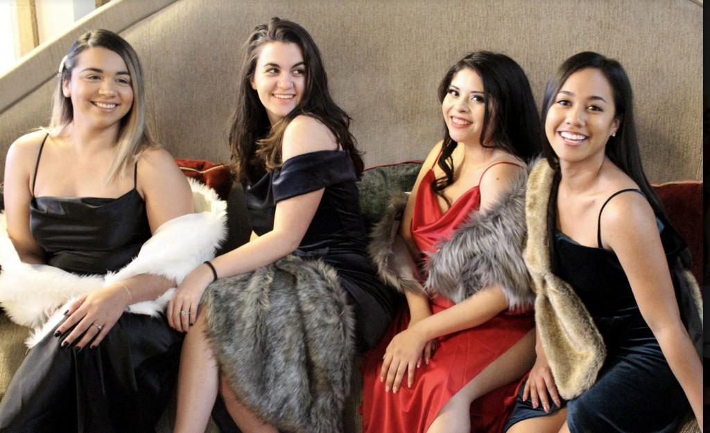 Dresses, gala dress, special occasion dress, dress slit, party dress, velvet dress, silk dress, long dress, long gown, midi dress, black dress, faux fur, fur wrap, fur scarf, red dress, blue dress