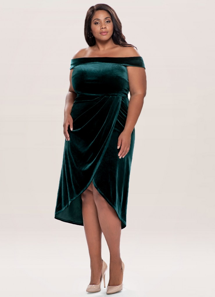 Azazie, special occasion dresses, dark green dress, velvet dress, formal dress, plus size dress, midi dress