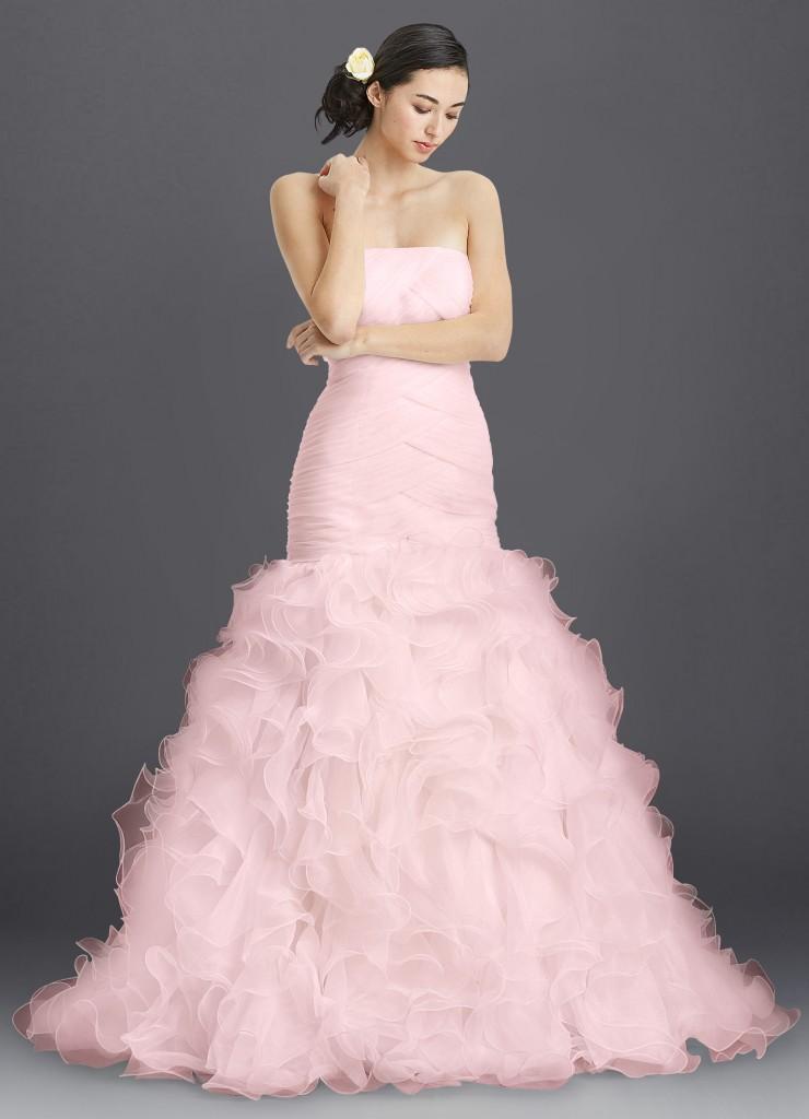 Azazie Eartha Blushing Pink