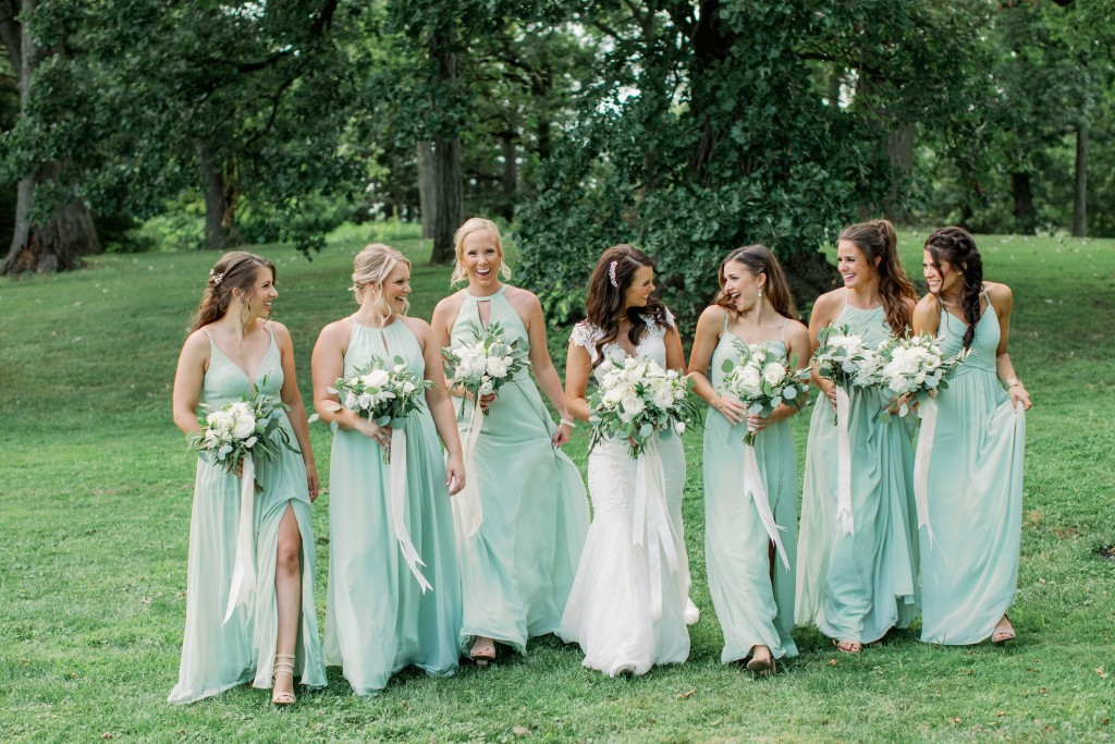 Bridesmaids Dresses, Dusty Sage dresses, light green dresses, Azazie, Summer bridesmaid dresses,Summer Wedding Flowers, Summer colors, wedding bouquets, bridal flowers, wedding decor, seasonal flowers