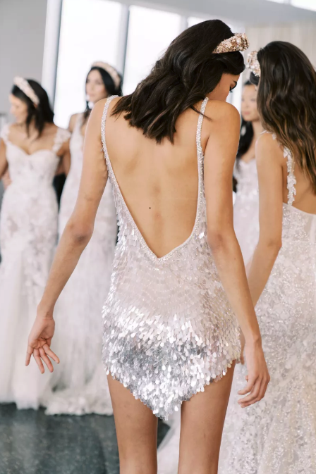 Berta Bridal naked back
