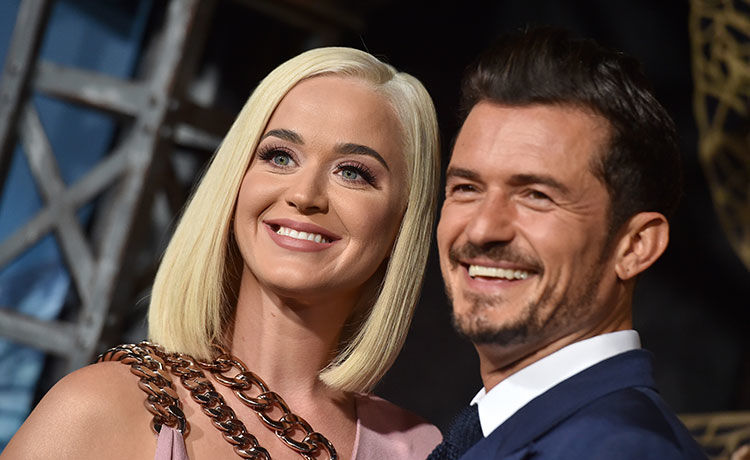 Katy Perry, Orlando Bloom, celebrity engagements, celebrity weddings, famous couples, celebrity couples, wedding dresses, bridesmaid dresses, Azazie