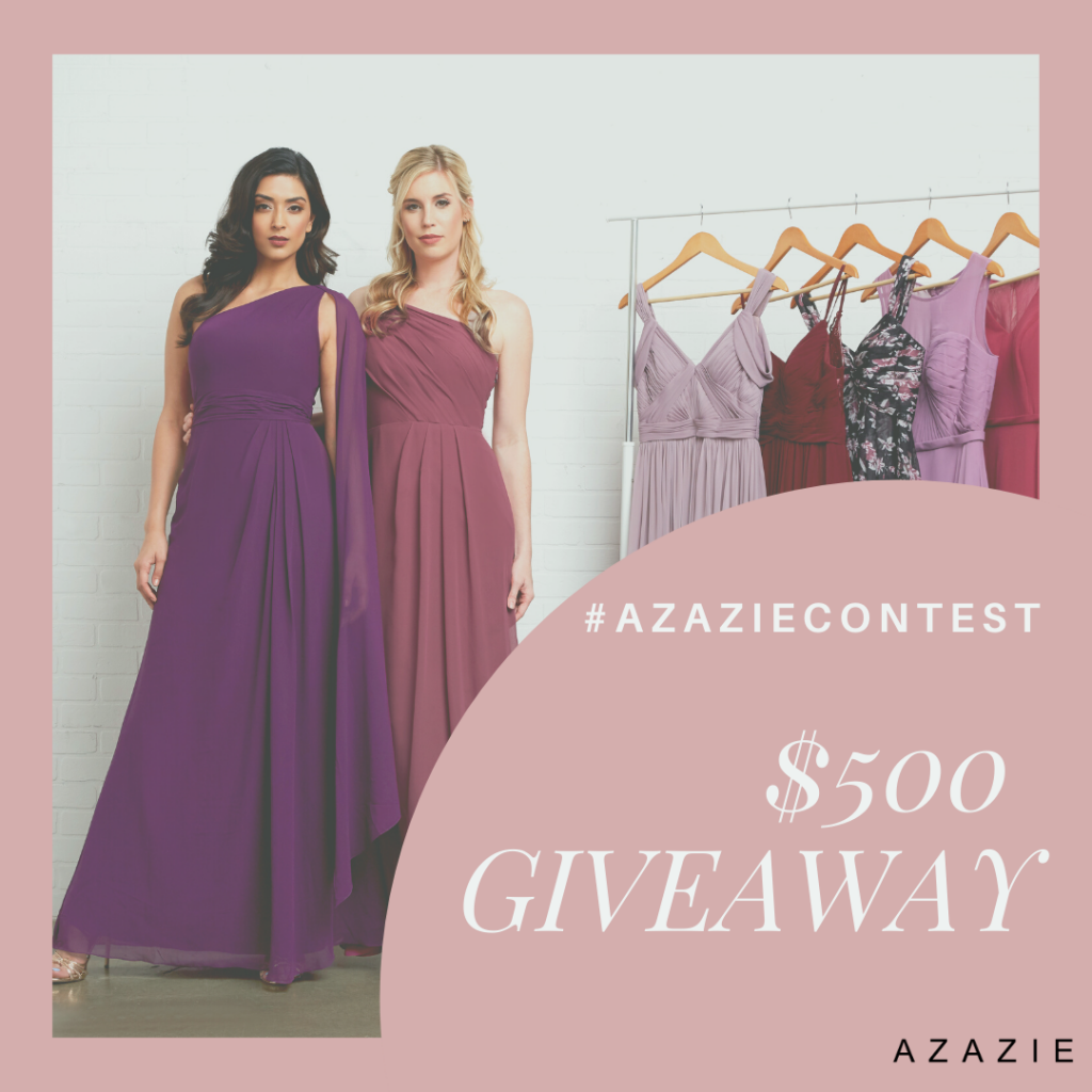 #Azaziecontest,Azazie giveaway, Azazie promo, Azazie, Giveaway, Contest, Free, coupon, coupon code, cocktail dress, wedding dress, party dress,