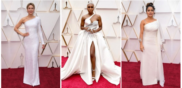 Oscars 2020 celebrities in white