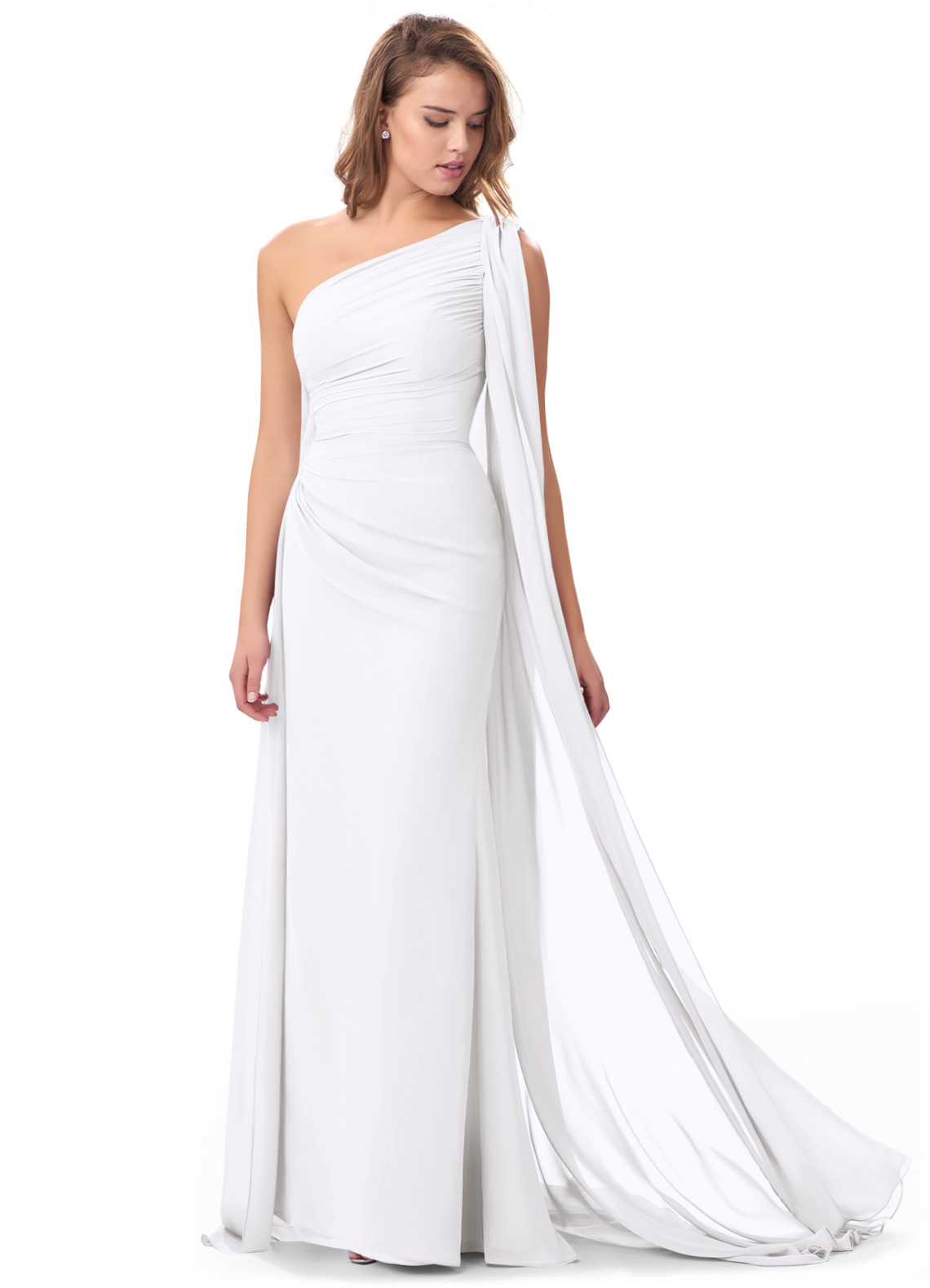 Azazie Lydia in white