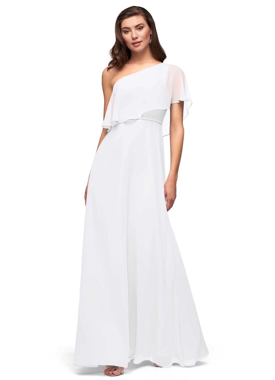 Azazie Lizzy in white