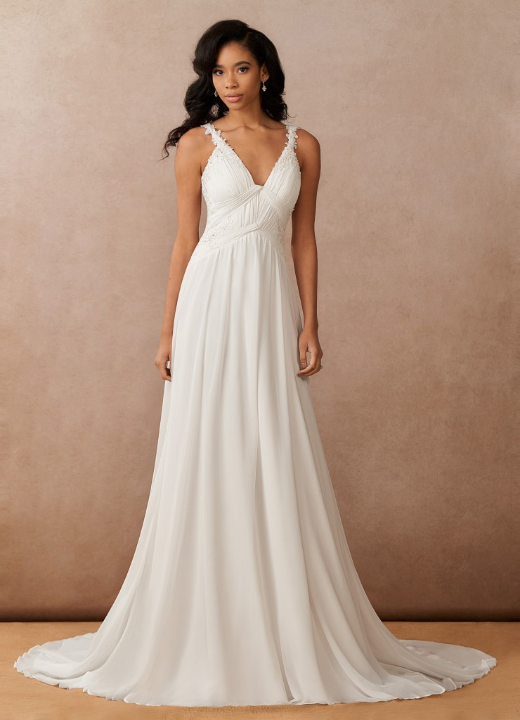 Azazie Ramona, Azazie Essence, bridal gown, modern wedding dress, sleeveless wedding dress, simple wedding dress