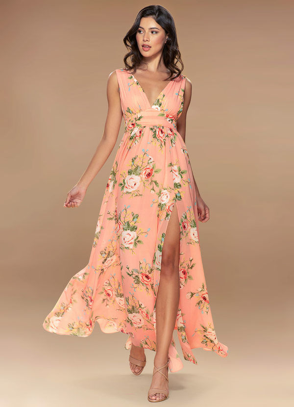 AZAZIE BLUSH MARK VERSAILLES BLUSH FLORAL PRINT MAXI DRESS (1)