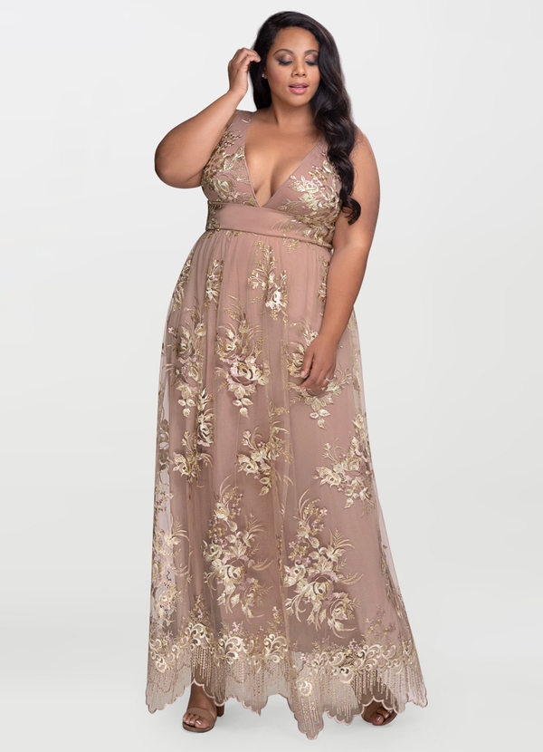 AZAZIE BLUSH MARK ROMANTIC ADVENTURE DUSTY ROSE EMBROIDERY MAXI DRESS (1)